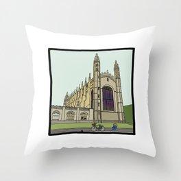 Cambridge stuggles: King's Throw Pillow