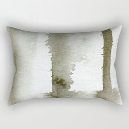 Quiet Drip Abstract Painting Rectangular Pillow