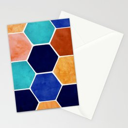 Painted Terra Cotta Stationery Cards