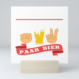 """A Beer Tee For Alcoholic """"Schere Stein Paar Bier"""" T-shirt Design Alcohol Partying Party Scissor Rock Mini Art Print"""