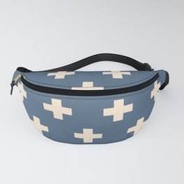 Swiss Cross Blue Fanny Pack