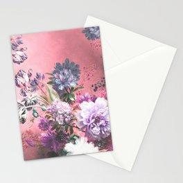 Pink Misty Master Floral Stationery Cards