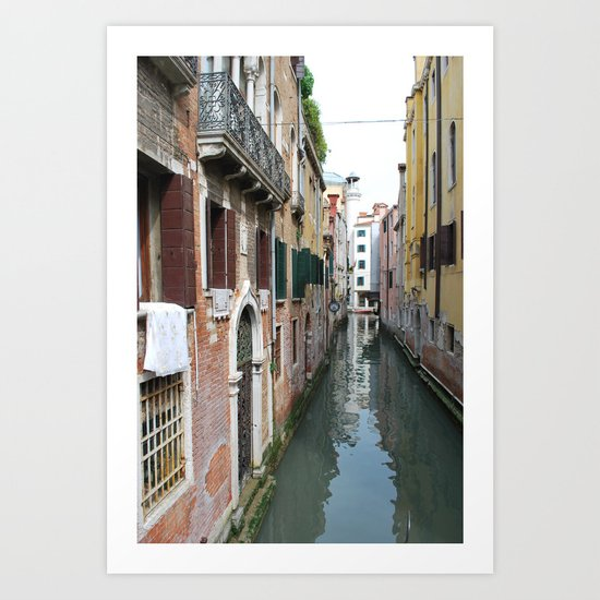 Life on the Canal Art Print