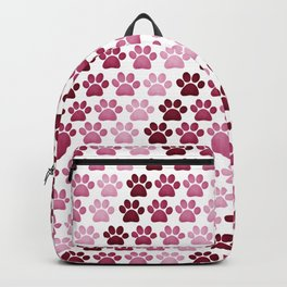 Paw Prints Pattern - Pink Backpack
