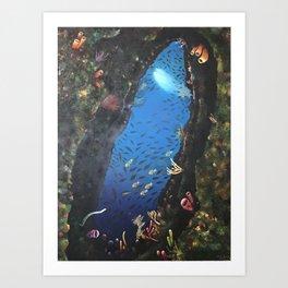 "Hector Bedoya, ""The Cave"". 2011. Art Print"