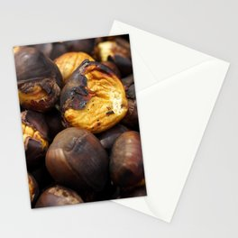 Food. Roasted chestnuts. Stationery Cards