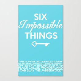 Impossible Things Canvas Print
