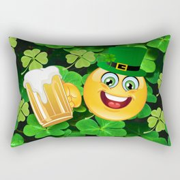 St. Patrick Day Emoticon Rectangular Pillow