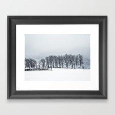 White winter II Framed Art Print