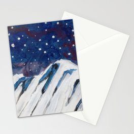 Night Mountain Stationery Cards