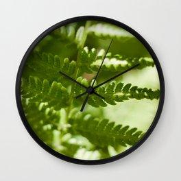 Fern Photography Print Wall Clock
