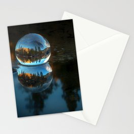 Refraction and Reflection Meet  Castle Lake reflections on the water Stationery Cards