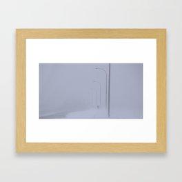 Snowing Days and Broken Fingers Framed Art Print