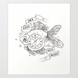 time does not sleep Art Print