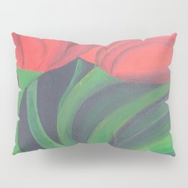 Red Tulip Diptych Pillow Sham