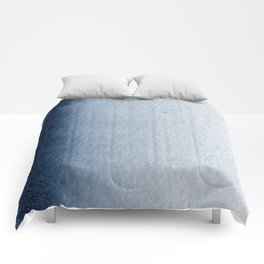 Indigo Vertical Blur Abstract Comforters