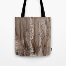 Who's Kissing Who - Kiss Me - Vintage - Modern Art Abstract - Picasso Style Tote Bag