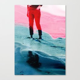 A girl and the sea Canvas Print
