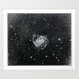 The Evolution of Worlds (1909) - Messier 100, a Galaxy in Coma Berenices Art Print