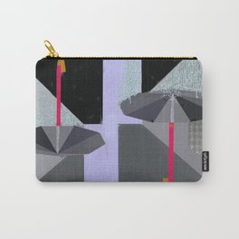 Umbrellas in the Rain Carry-All Pouch