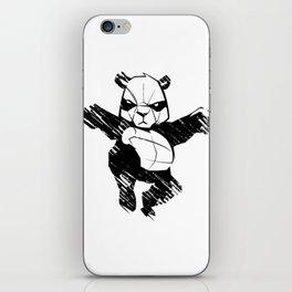 sketch panda martial arts iPhone Skin