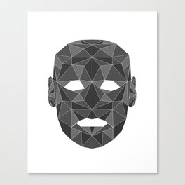 lowpolycyberhuman Canvas Print