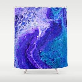 Purple Wave of Seafoam Shower Curtain