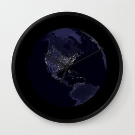 Earth Globe Lights Wall Clock