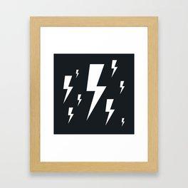 Lightning bolts Framed Art Print