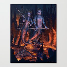 Warriors of the Deep Canvas Print