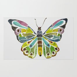 Colorful Butterfly Rug