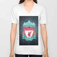 liverpool V-neck T-shirts featuring LIVERPOOL by Acus