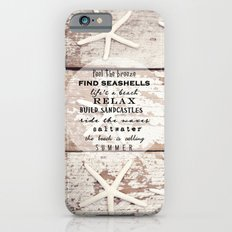 starfish on wood Slim Case iPhone 6