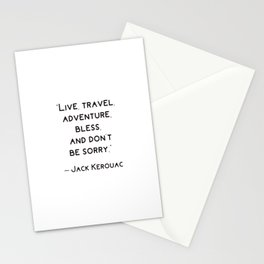 Jack Kerouac Travel Quote Stationery Cards
