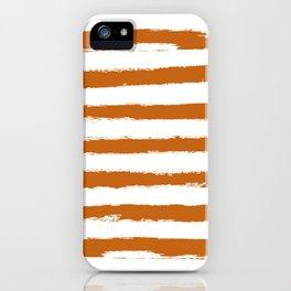 Autumn Maple STRIPES Handpainted Brushstrokes iPhone Case