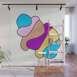 Colors jellyfish Wall Mural