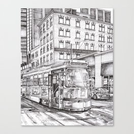 Spadina King (black and white) Canvas Print