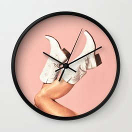 These Boots - Pink Wall Clock