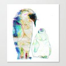 Remix Emperor Penguins Canvas Print