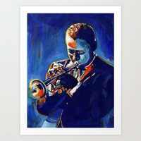 miles davis Art Prints featuring Miles by Vel Verrept