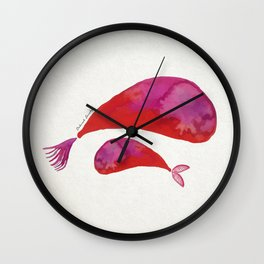Mamma whale and baby whale Wall Clock