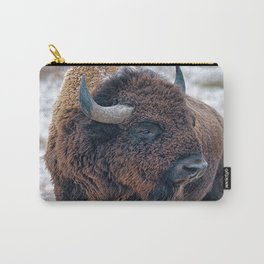 In The Presence Of Bison Carry-All Pouch