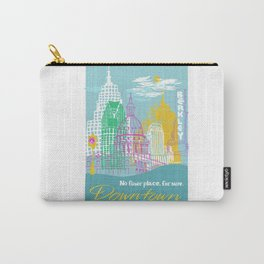 WPA Style Downtown (Detroit) Illustrated Print  Carry-All Pouch