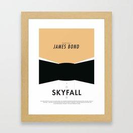 James Bond Skyfall - Minimalist Poster Framed Art Print
