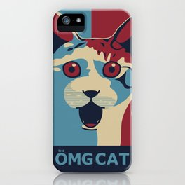 ✩ The OMG Cat Poster iPhone Case