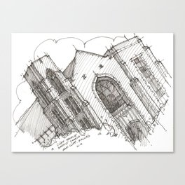 Oa[k]cliff Temple Canvas Print