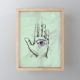 Hand with an Eye - 1 Framed Mini Art Print