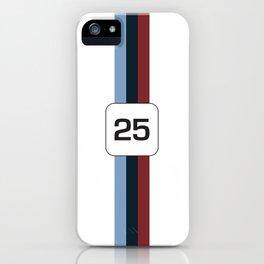 racing stripe .. #25 iPhone Case