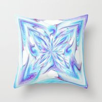 pantone Throw Pillows featuring Butterfly - Pantone by Bella Mahri-PhotoArt By Tina