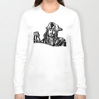 jack sparrow Long Sleeve T-shirts featuring Jack Sparrow....Captain Jack Sparrow.. by Kramcox